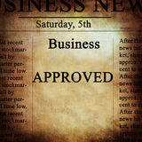 Business news Stock Photography