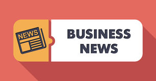 Business News Concept in Flat Design. Royalty Free Stock Image