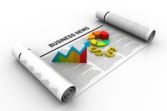 Business news. 3d illustration of Business news Royalty Free Stock Photo
