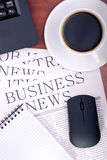 Business news on the desk in the office royalty free stock photos
