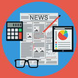 Business news flat vector concept Royalty Free Stock Photography