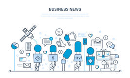 Business news, modern technology, comments, reviews, work with data, analysis. Business news, interview, press conference, technology, comments and reviews Stock Photos
