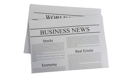 Business news newspaper Royalty Free Stock Images