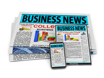 Business news Stock Images