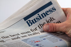Business news paper Royalty Free Stock Photography