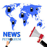 Business news petroleum global business. Royalty Free Stock Photography