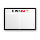 Business news on tablet pc Stock Image