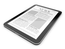 Business news on tablet pc. Mobile device. Concepts 3D Royalty Free Stock Images
