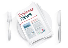 Business news tablewares Stock Photo