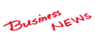 """business news"" written in white background Stock Images"