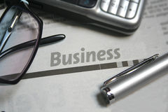Business newspaper Royalty Free Stock Image