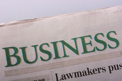 Business newspaper Stock Image