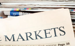 The business newspaper Stock Image