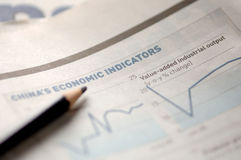 Business newspaper. Stock market charts Stock Photography