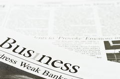 Business Newspaper Stock Photography