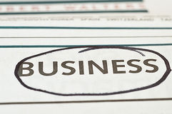 Business Newspaper Stock Photos