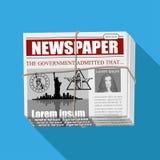 Business Newspaper. Financial Information. Vector newspaper template. Gray newsprint Stock Image