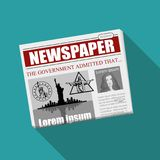 Business Newspaper. Financial Information. Vector newspaper template. Gray newsprint Royalty Free Stock Images