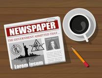 Business Newspaper. Financial Information. Vector newspaper template. Gray newsprint Royalty Free Stock Photos