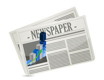 Business newspaper graph Stock Photo