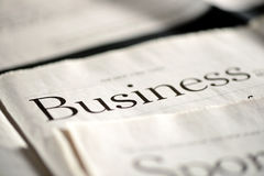Business newspaper Royalty Free Stock Photos