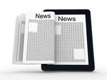 Business newspaper on tablet Royalty Free Stock Images