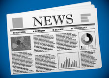 Business newspaper template with European economy Royalty Free Stock Photos