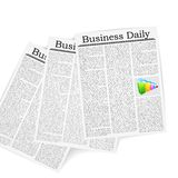 Business Newspaper. Vector illustration of business newspaper with bargraph Royalty Free Stock Photography
