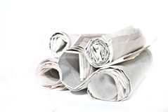 Business newspapers. On the white backgound Stock Images