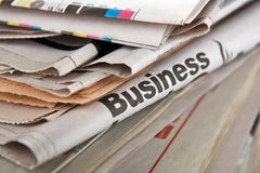 Business newspapers Royalty Free Stock Photos
