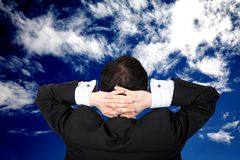 Business - no worries Royalty Free Stock Photo