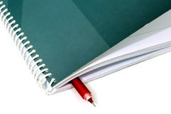 Business note pad with pen Royalty Free Stock Image
