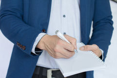 Business note , write , pen. Business note for remember and learning Royalty Free Stock Photography