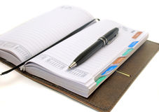 Business notebook on background Royalty Free Stock Image