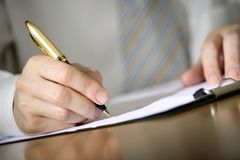 Business notes Stock Photography