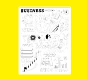 Business notes. A lot of pattern and logo about business Royalty Free Stock Image