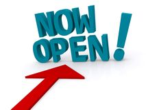 Business now open sign Royalty Free Stock Images