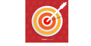 Business objective concept. Successful shot in the darts target. Royalty Free Stock Photo