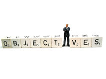 Business objectives stock photography