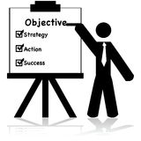 Business objectives Stock Image