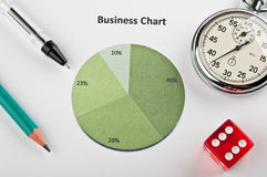 Business objects and finance diagram Royalty Free Stock Image