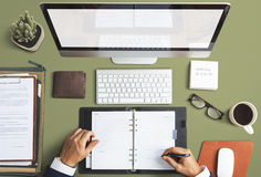 Business Objects Office Workspace Desk Concept Stock Photo