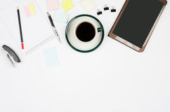 Business objects on a white background or desk. Royalty Free Stock Photography