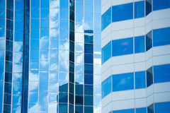 Business office buildings glass exterior texture Royalty Free Stock Image
