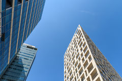 Business Office Buildings And Residential Buildings In Donau City District Of Vienna Stock Photo