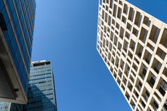 Business Office Buildings And Residential Buildings In Donau City District Of Vienna Stock Photos