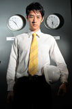 Business Office with Clock 144 Royalty Free Stock Photo