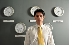 Business Office with Clocks - 2 stock photography