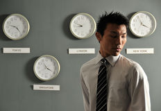 Business Office with Clocks 55 Royalty Free Stock Photo