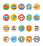 Business and Office Colored Vector Icons 2 Stock Photography